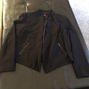 Black Cropped Jacket XL